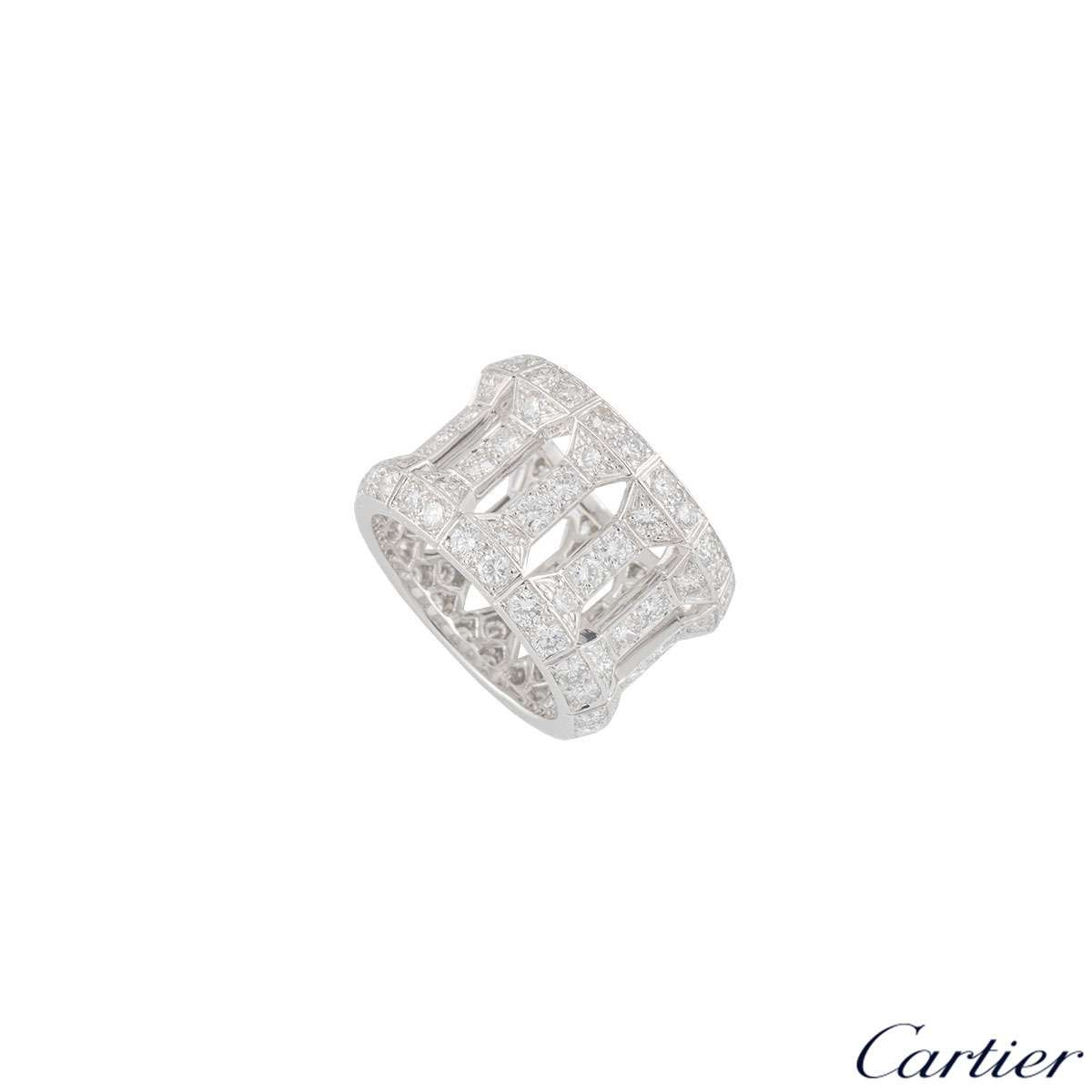 Cartier White Gold Diamond Dress Ring